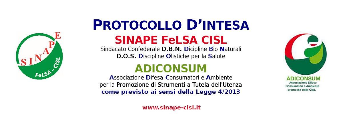 Protocollo d'Intesa tra SINAPE FeLSA CISL e ADICONSUM
